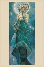 Alphonse Mucha The Moon Poster Print Wall Art Large Maxi