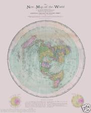RARE The New Map of the World [Flat Earth] : circa 1899 : Christopher & Gleason