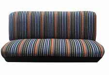 Baja Blue Strip Woven Full Size Saddle Blanket Bench Seat Cover Chevy Silverado
