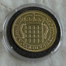ELIZABETH I PORTCULLIS FOUR TESTERN 22 CARAT GOLD PLATED PROOF FROM THE LMO