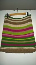 Vero Moda Colorful Green/Brown Skirt with stripes Small