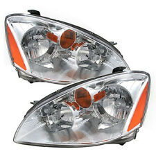 Headlights Headlamps Pair Set Left LH & Right RH for 02-04 Nissan Altima NEW