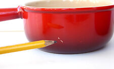 Le Creuset Stoneware French Onion Soup Bowl Handle 16 oz Red Unused