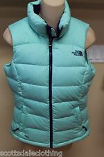 NEW The North Face Green Puffy Down Sleeveless Jacket Vest Coat Ladies XS TP