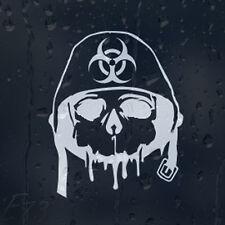 Ejército Zombie respuesta a brotes de Calavera en Militar Casco coche decal pegatina de vinilo