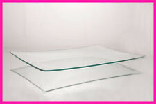 """Decoupage, Paint, Engrave 9"""" x 12"""" Shallow Rectangle Clear Glass Plate  1/8"""