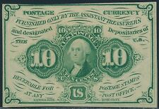 Fr1242 10¢ 1St Issue Fractional Currency S.E. With Monogram Choice Cu Br3273