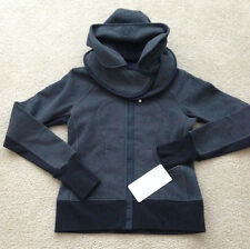 NWT Lululemon Scuba Hoodie Jacket, Str SE Detachable Hood, Black Soot SZ 8