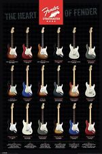 FENDER STRATOCASTER HEART OF FENDER POSTER 91.5 X 61CM OFFICIAL MERCHANDISE