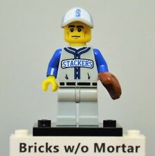 New Genuine LEGO Baseball Fielder Minifig with Glove Series 10 71001