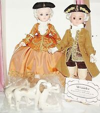 "MADAME ALEXANDER ""POMPADOUR FALL & LOUIS XV""~CISSY 21""~2 DOLL SET~W/DOGS~ LE120"