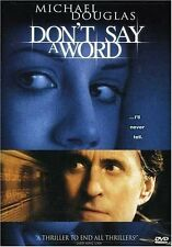 Brand New DVD Don't Say a Word Michael Douglas Sean Bean Famke Janssen Oliver
