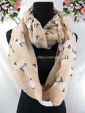 US SELLER Eternity Scarves Circle animal sheeps double loop infinity scarf