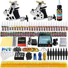 Solong Complete Tattoo Kit 2 Pro LCD Machine Guns 54 Inks Power Supply UK STOCK