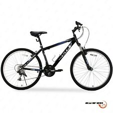 "Mountain Bike 18 Speed 26"" Bicycle Shimano Hybrid GTM Black Blue School Sports"
