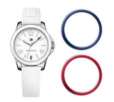 Tommy Hilfiger Montre Femmes 1781680 Analogue Silicone Blanc