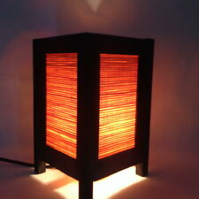 Cozy Japanese Style Bamboo Blind Table Lamp Bedside Lantern SPA Room Decoration