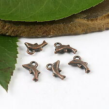 50pcs copper tone dolphin charms findings h1793