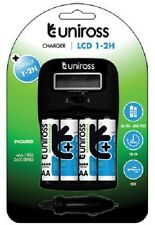 UNiROSS LCD 1-2 HOUR CHARGER + 4 x AA 2600 SERIES BATTS