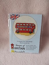 MOUSELOFT STITCHLETS CROSS STITCH KIT~  IMAGES of BRITAIN ~ RED  LONDON BUS~ NEW