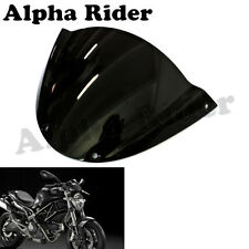 Black Windscreen Windshield For Ducati Monster 659 696 795 796 1100 1100S EVO