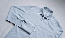 Charles Tyrwhitt Formal Dress Shirt Top Size 16 Large L /M Extra Slim Blue Green