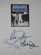 Miami Vice Signed TV Script X3 Don Johnson Edward James Olmos Thomas reprint