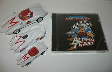 Speed Racer 4 LOT Alpha Team 1992  3 Track Music CD Techno + 3 toy cars