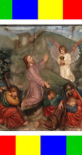 ANTIQUE GIANT HOLY BIBLE CARVED WALL PANEL JESUS Christian AAFA Church Religious