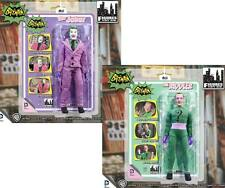 "Batman 1966 TV Series JOKER & RIDDLER 8"" ACTION FIGURES retro/vintage/mego style"