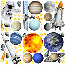 Planet Wall Stickers Solar System Wall Stickers Space Wall Stickers