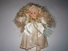 """NEW Bean Bag Collectibles Stuffed Curly Blonde Hair Angel Doll Toy/Decor """"Love"""""""