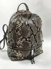 Michael Kors Rhea Natural Python Snake Small Backpack Embossed Leather $358