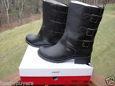 NEW DKNY WOMEN BLACK  WINTER MID CALF BOOTS.BOXED SIZE 9.5 /40.5.100 %AUTHENTIC