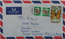 SOMALIA 1992 COVER ROUTED VIA INTERNATIONAL RED CROSS THROUGH KENYA TO LONDON