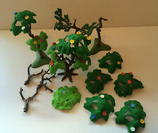 Playmobil Trees Flowers Trunks Leaves Foliage Base Top Lot Replacement Parts