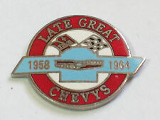 Chevrolet Bowtie Pin Badge, Circle Lapel Pin