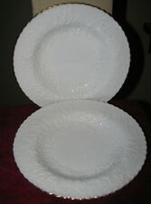 2 Spode Savoy White Rimmed Soup Pasta Bowls Gold Trim RARE Hard to Find