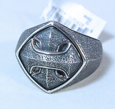 New David Yurman Men's Armory Cushion Signet Ring Sterling Silver Size 10 $425
