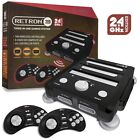 Retron 3 3in1 Super Nintendo NES SNES Sega Genesis Game Console 2.4 GHz - Black