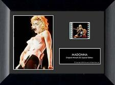 "MADONNA 1980's Queen Of Pop Music FRAMED FILM CELL and CONCERT PHOTO 5"" x 7"" New"