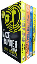 Maze Runner Series 4 books Set James Dashner, The Death Cure , Scorch Trials NEW