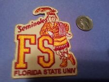 "FSU Florida State Seminoles CLASSIC  vintage iron on embroidered patch 3"" x 3"""
