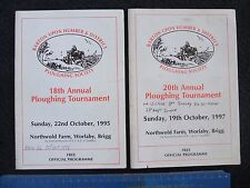 3x TRACTION ENGINE/TRACTORS. PLOUGHING TOURNAMENT MEMORABILIA