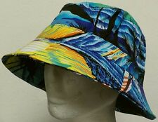 HAWAII HAWAIIAN BEACH SAND OCEAN COTTON BUCKET CAP SUN OUTDOOR FISHERMAN HAT M/L