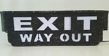 EXIT WAY OUT METAL DISPLAY light up Cinema Theater Movie Home Wall Art Plaque