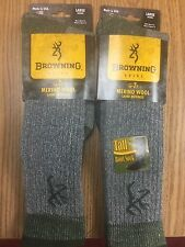2 Pair of Browning Socks - Tall 90% Merino Wool Boot - #9169 -  -XLarge