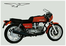 MOTO GUZZI Poster Le Mans MKI Red 1976 1977 1978 Suitable to Frame