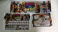 CAPCOM (CPS2) X-Men vs Street Fighter Arcade Marquee Insert Art set (Card)