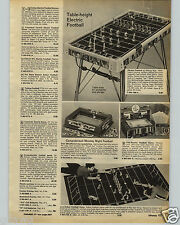 1972 PAPER AD Toy Computerized Monday Night Football Game NFL Foto Electric